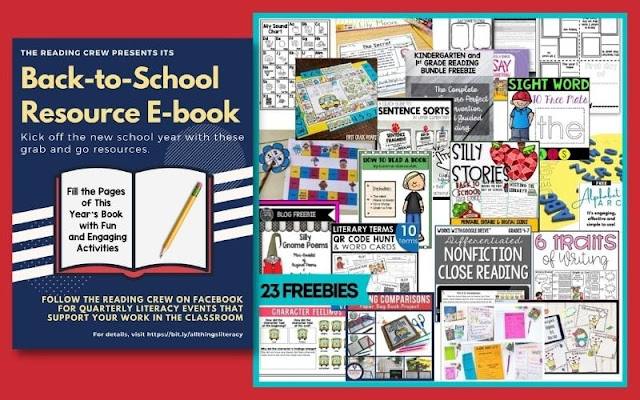 Lots of amazing Literacy Freebies in this amazing E-book!