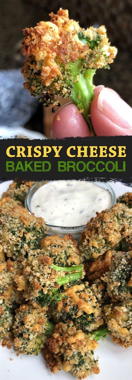 Amazing Crispy Cheese Baked Broccoli
