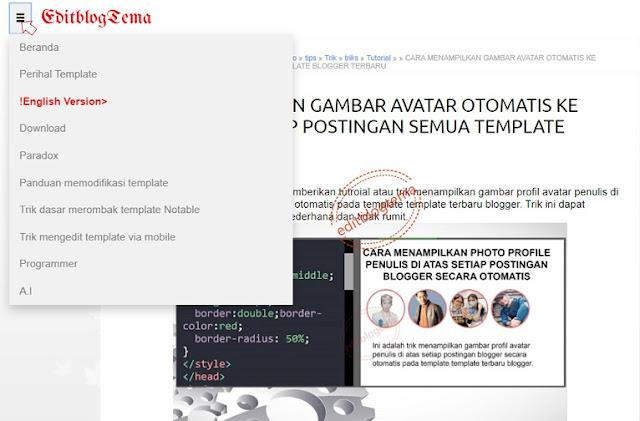 navigasi dropdown untuk template blogger emporio