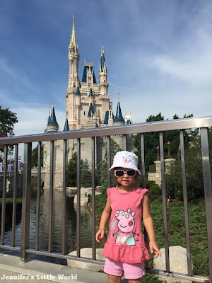 Child at the Disney Castle, Orlando, Florida
