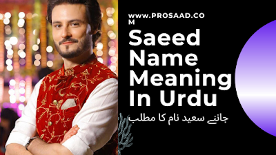 Saeed Name Meaning in Urdu & Saeed Name Other Variant