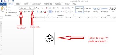Hindu, Membuat Simbol OM