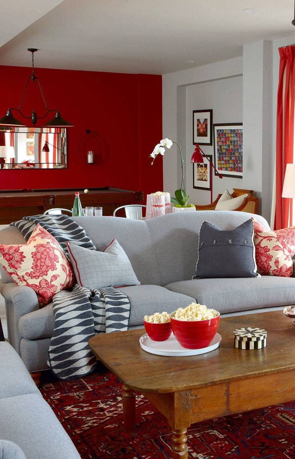 Make your basement rec room chic and inviting