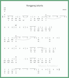 not angka lagu ronggeng jakarta lagu daerah jakarta