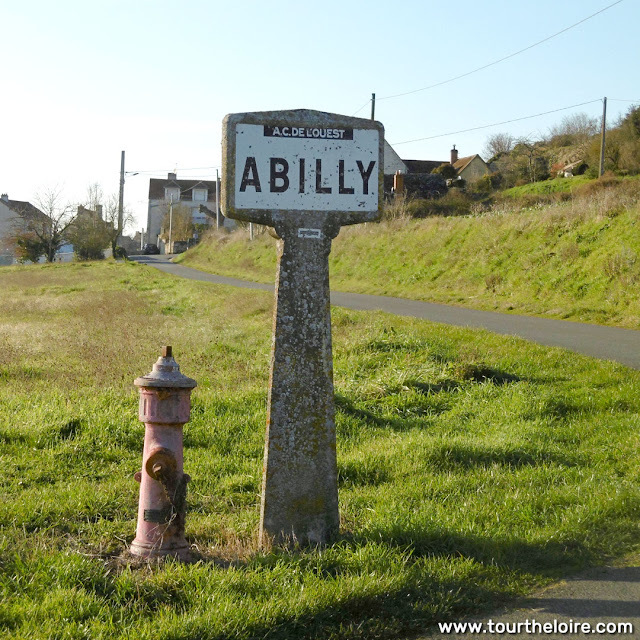 Michelin road sign, Indre et Loire, France. Photo by Loire Valley Time Travel.