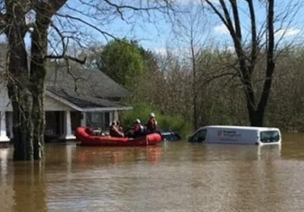 Τενεσί ΗΠΑ : οι χειρότερες βροχοπτώσεις από τον Μάιο του 2010