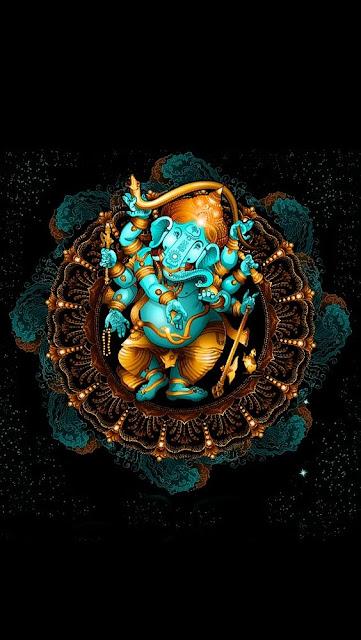 Ganesh black wallpaper hd