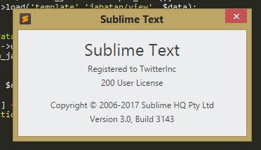 how to crack sublime text 3 build 3143