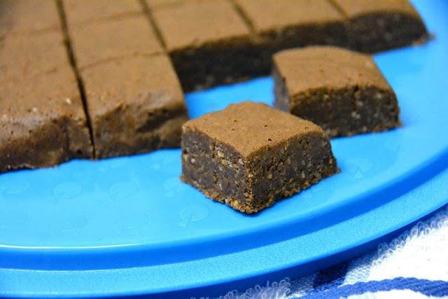 chocolate fudge in cubes