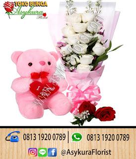 Toko Bunga Bekasi Hand Bouquet Bunga dan Boneka  Cibitung bekasi