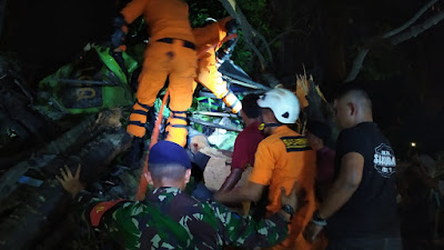 Basarnas Lampung Bantu Evakuasi Korban Lakalantas di Pintu Tol Bakauheni