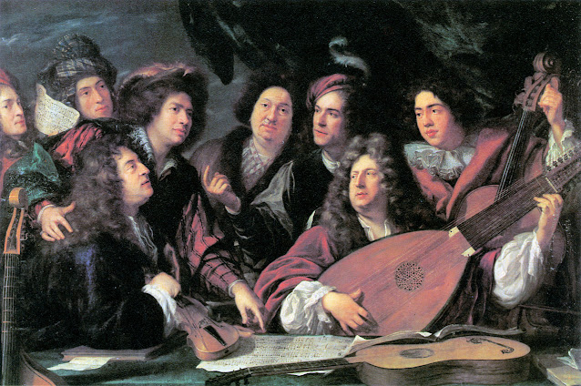 Portrait of Several Musicians and Artists by By François Puget 1688