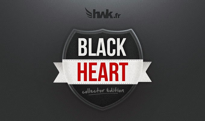 Black Heart Badge PSD