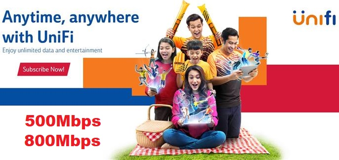TM Unifi 500Mbps and 800Mbps Plans Compare Price