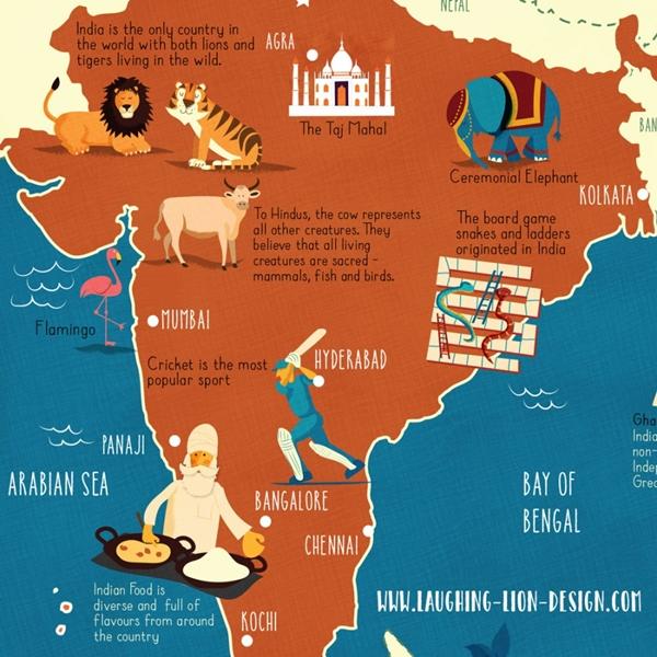 india-harta-turistica