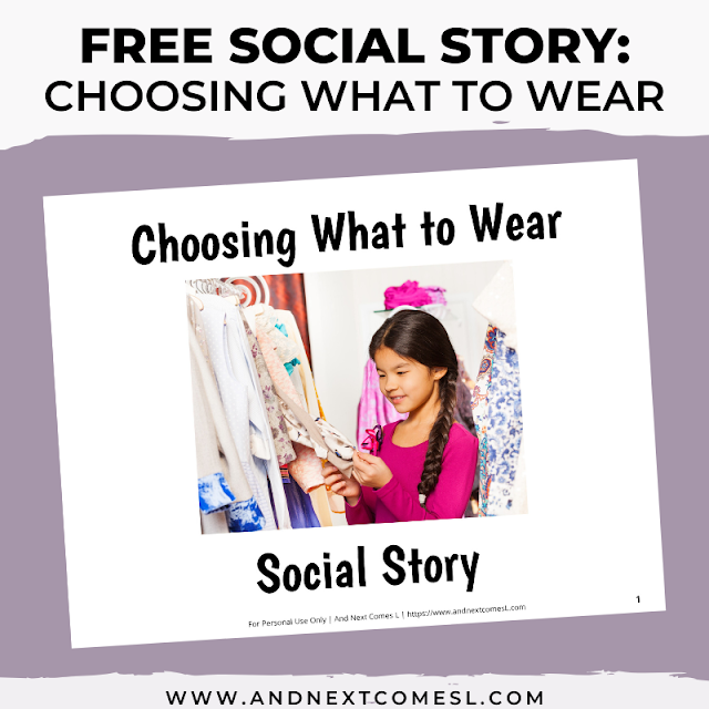 Free printable clothing getting dressed what to wear social story
