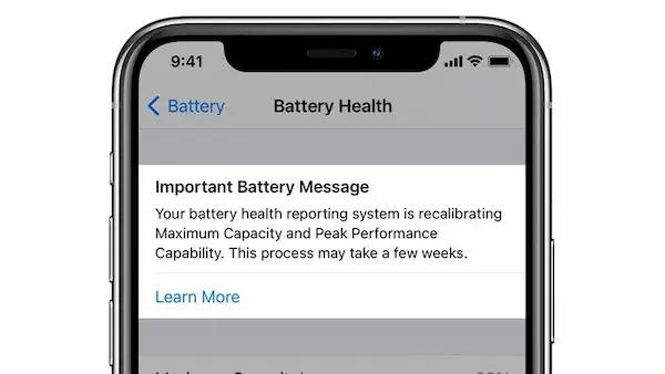 إعادة معايرة بطارية iPhone 11