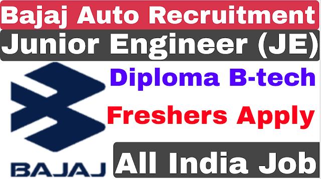 Bajaj Auto Freshers Recruitment 2019 | Bajaj Auto Off Campus Recruitment 2019