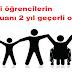 Engelli öğrencilerin YGS puanı 2 yıl geçerli olacak