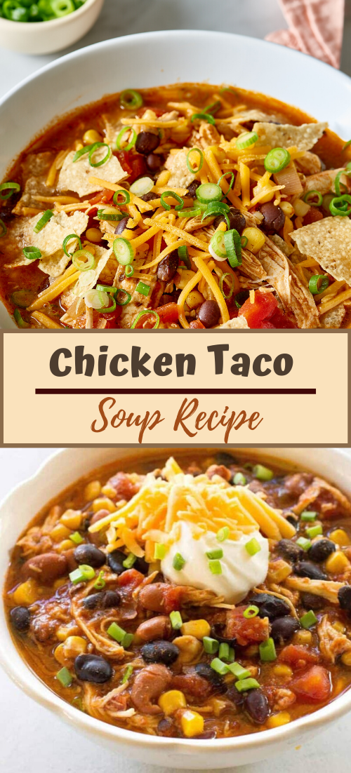 Chicken Taco Soup Recipe #healthyfood #dietketo #breakfast #food