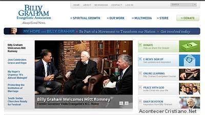 Web del ministerio de Billy Graham