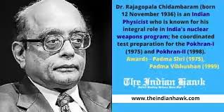 The inventor of Top secret Weapon 'KALI' is Dr. R. Chidambaram,