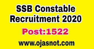 SSB-Consteble-2020-Recruitment-1521-post