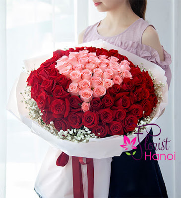 Beautiful rose bouquet for Valentines day