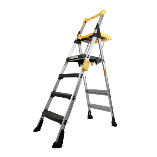 Skl Diy Uptown Cosco 4 Steps Yellow Folding Ladder Rm 599