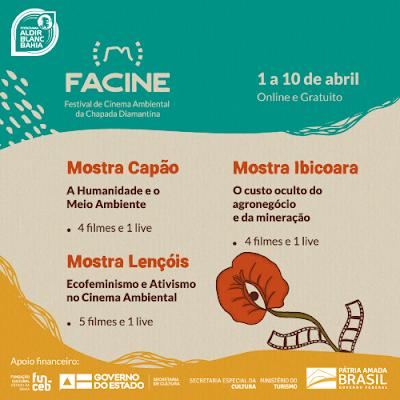 Chapada Diamantina recebe Festival de Cinema Ambiental de 1 a 10 de abril