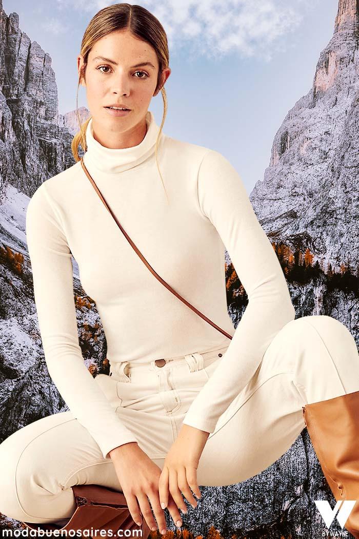 Poleras invierno 2021 mujer moda invierno