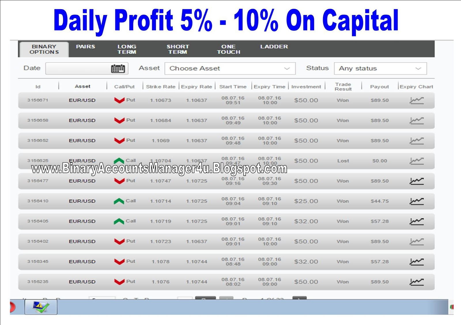 Binary options betting software download