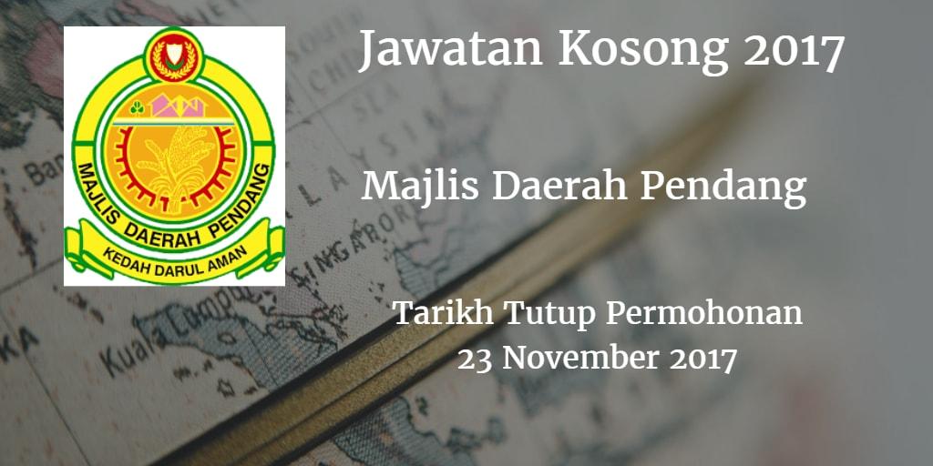 Jawatan Kosong MDPendang 23 November 2017
