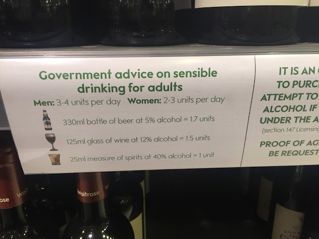 Government advice on sensible drinking