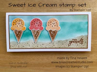 Sweet Ice Cream card by Tina Hewett
