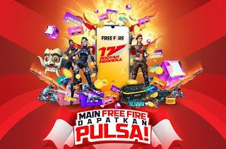 Event HUT-RI Free Fire : Trik Mendapatkan HP dan Pulsa
