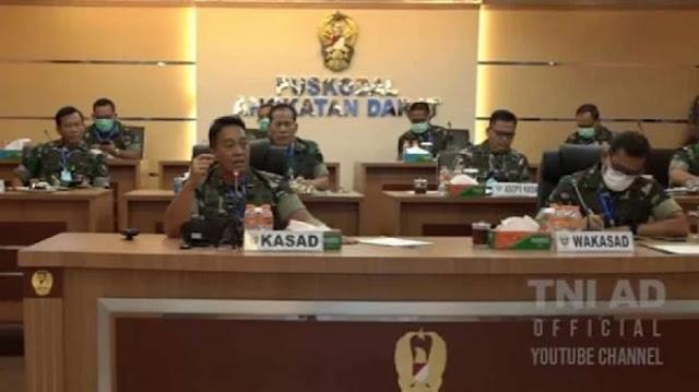 Rapat COVID-19 TNI AD Tegang, 2 Jenderal Bintang Dua  Disuruh Keluar