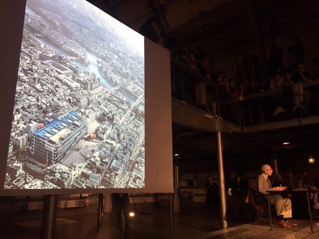 Renzo Piano évoquant le 1er concours remporté pour le centre Georges Pompidou