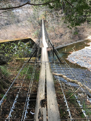 対岸から見た第2吊り橋