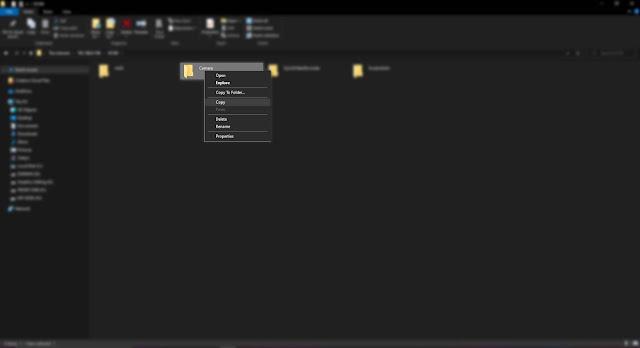 Copy file yang akan dikirim atau pindahkan ke Laptop atau PC