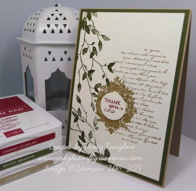 Nigezza Creates with Stampin Up Very Versailles