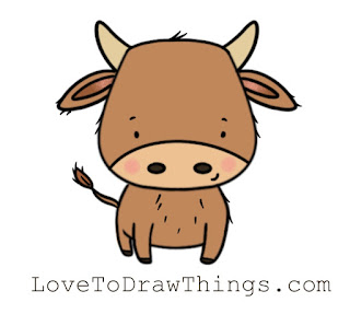 Easy drawing idea. New Year Ox 2021