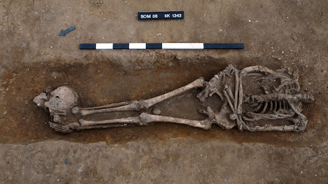 'Exceptionally high' number of decapitated bodies found at Roman burial site in Britain