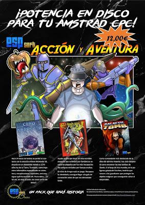 Pack Acción y Aventura en disco para Amstrad CPC