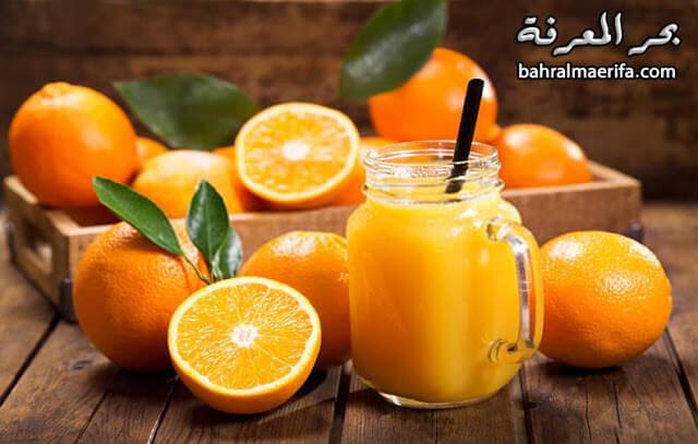 عصير البُرتقال والليمون المُركز وفوائده