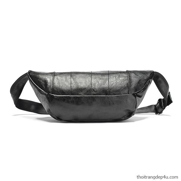 Túi đeo chéo bao tử mới độc đáo cao cấp BAM073D (Đen)