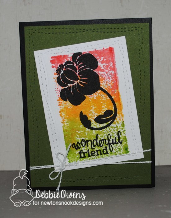 Wonderful friend by Debbie features Fanciful Florals by Newton's Nook Designs, #newtonsnook
