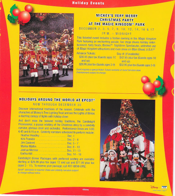 Holiday Events Walt Disney World Guide December 2004