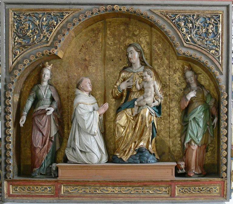 Nossa Senhora ouve São Bernardo. Mosteiro de Heiligkreuztal, Baden-Württemberg, Alemanha.