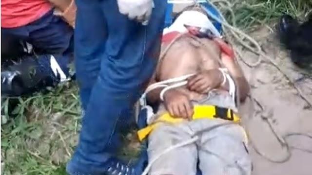 Jovem cai em ribanceira enquanto colhia frutas em Viçosa do Ceará